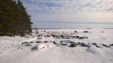 Aallonmurtajat talvella