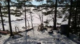 Talvinäkymä parvekkeelta