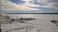 Ketunkolon hiekkarantaa talvella