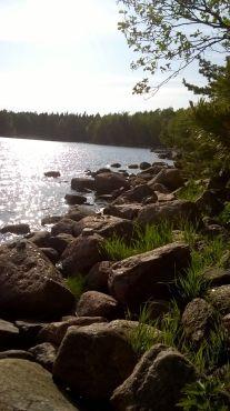 kiviä riittää näillä rannoilla!