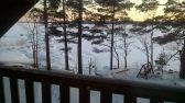 Parvekkeelta talvimaisemaa